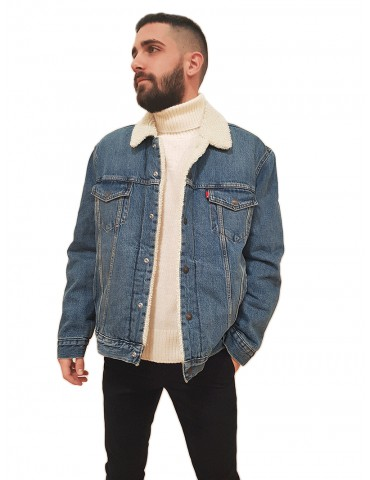 Levi's® giacca jeans sherpa type III sostenibile