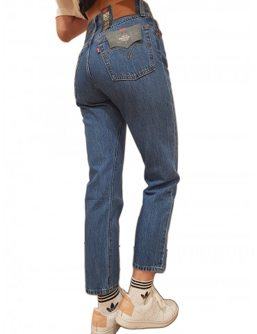 Jeans Levi's® 501™ cropped breeze stone