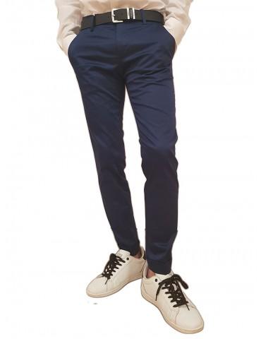 Roberto P Luxury pantalone skinny blue cotone