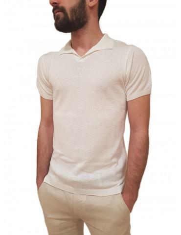 Roberto P Luxury maglia polo mezza manica bianca