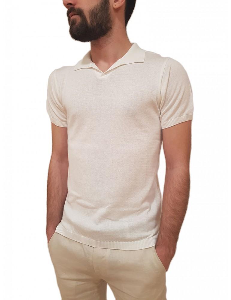 Roberto P Luxury maglia polo mezza manica bianca sm111cot9 ROBERTO P LUXURY MAGLIE UOMO product_reduction_percent