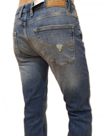 Jeans Guess uomo Angels slim lavaggio medio super stretch duks