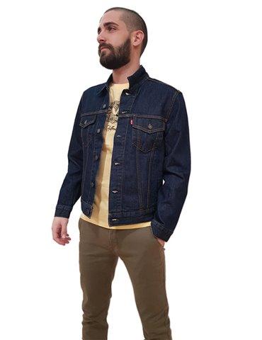 Levi's giubbotto jeans blu scuro