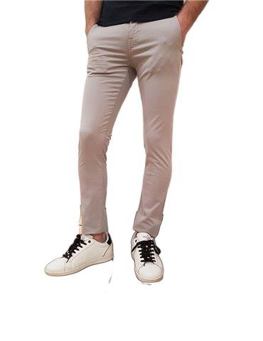 Guess pantalone uomo skinny chinos grigio Daniel cotone