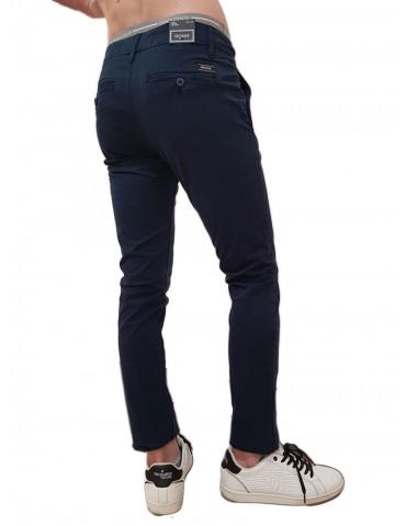 Guess pantalone skinny chino blue Daniel cotone