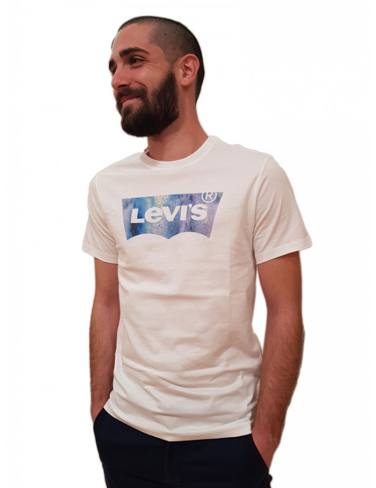 Levi's® t shirt bianca housemarked graphic tee logo stampato 22489-0343 Levi's® T SHIRT UOMO product_reduction_percent