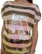 Maglietta elegante a righe Gaudi con paillettes 911fd45037911051-01 GAUDI CAMICIE DONNA product_reduction_percent