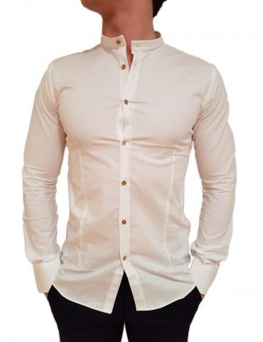 Camicia coreana bianca Roberto P Luxury
