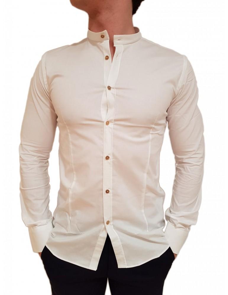 Camicia coreana bianca Roberto P Luxury cpc-1-1mambo1 ROBERTO P LUXURY CAMICIE UOMO product_reduction_percent