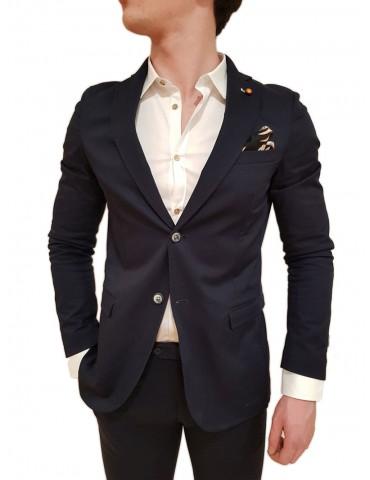Roberto P Luxury giacca uomo slim blu Mrt