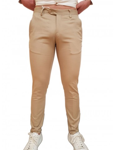 Roberto P Luxury pantalone slim beige Mrt