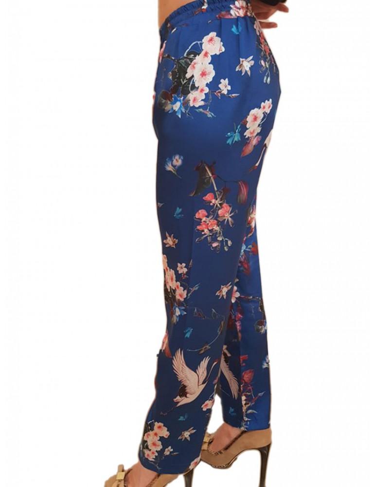 Pantalone Gaudì fantasia fiori blu 811fd25032811025-01 GAUDI PANTALONI DONNA product_reduction_percent