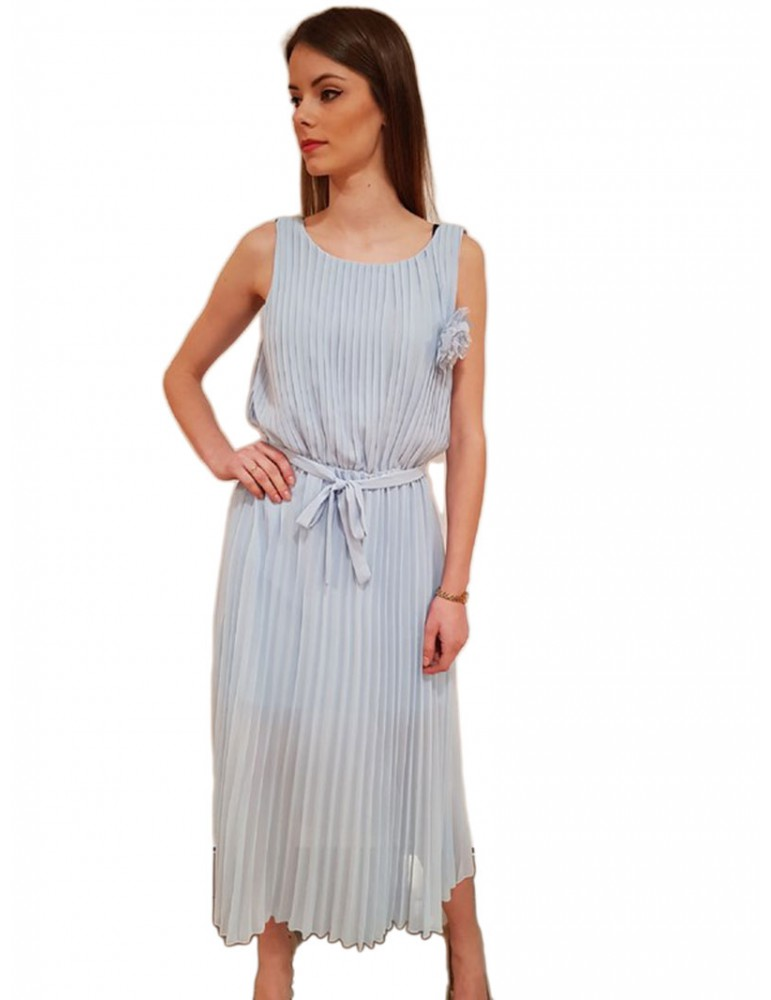 Gaudì abito lungo celeste plissettato 811fd150412966 GAUDI ABITI DONNA product_reduction_percent