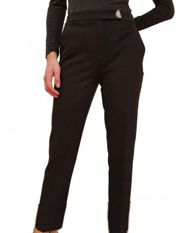 Gaudi pantalone nero slim in tessuto tecnico