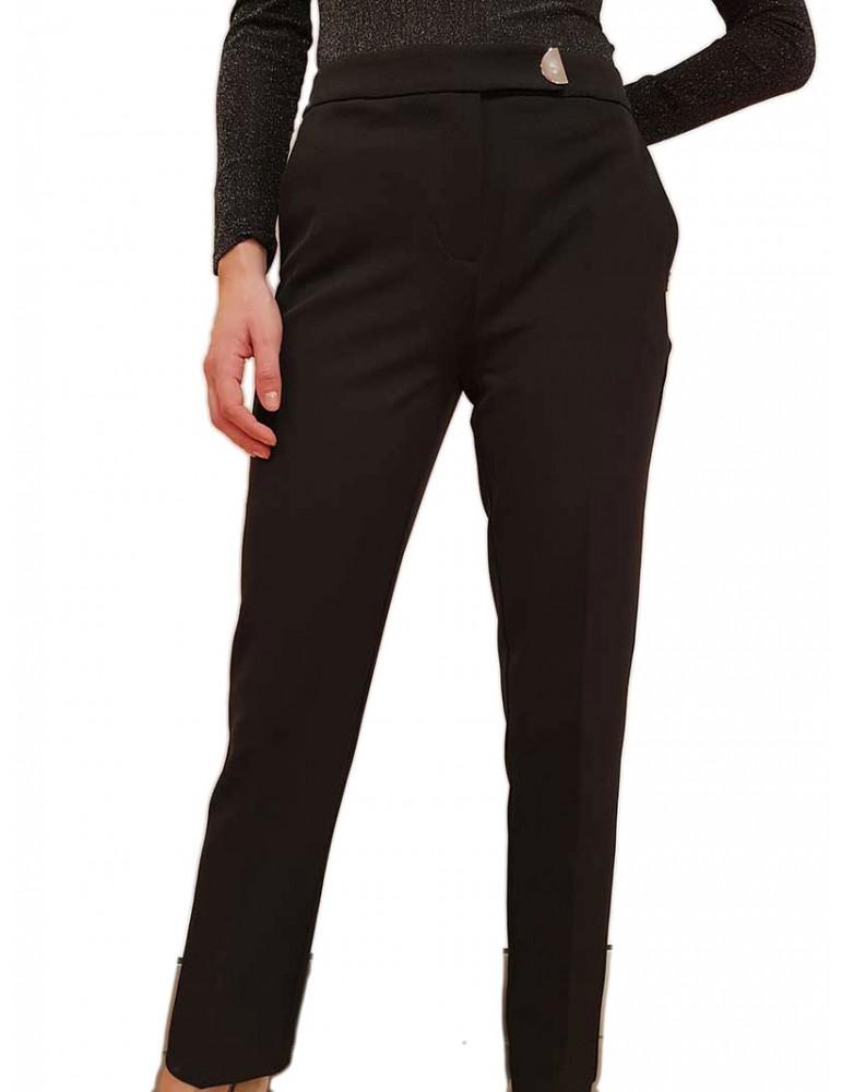 Gaudi pantalone nero slim in tessuto tecnico 921fd250012001 GAUDI PANTALONI DONNA product_reduction_percent