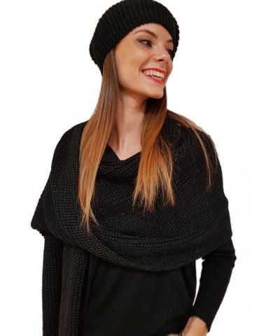 Gaudi sciarpa donna nera