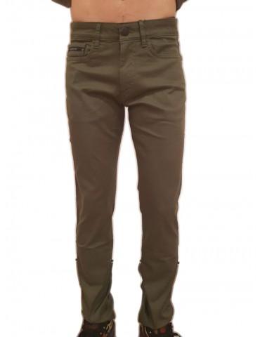 Pantalone verde slim Calvin Klein Gerst 2