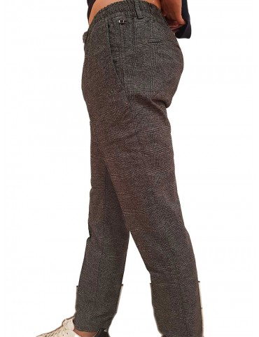 Pantalone Tommy Hilfiger grigio Principe di Galles