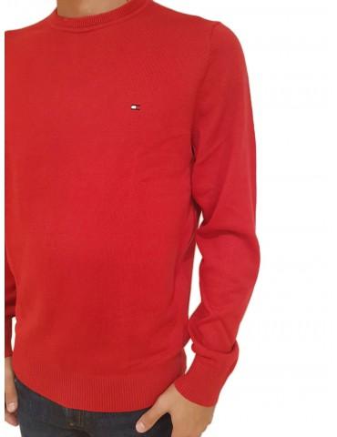 Tommy Hilfiger maglia uomo rossa pima cotton