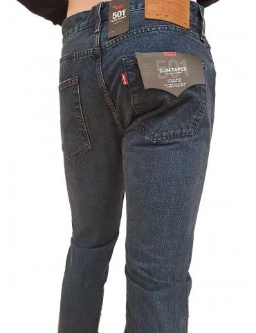 Levi's® 501™ jeans uomo slim taper lavaggio medio