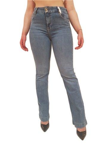 Fracomina jeans bootcut in denim lavaggio medio