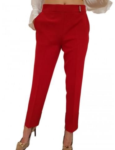 Gaudi pantalone donna a sigaretta rosso