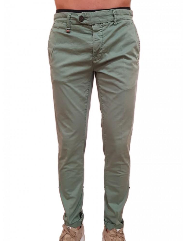 Pantalone skinny Antony Morato verde Bryan mmtr00387fa8000604030 ANTONY MORATO PANTALONI UOMO product_reduction_percent