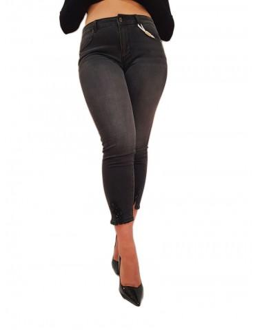 Fracomina jeans nero skinny cropped push up in denim lavaggio scuro